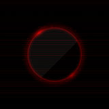 Neon red background. Vector black background with neon red circle Stock Images
