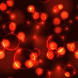 Neon red bokeh effect seamless pattern Stock Image