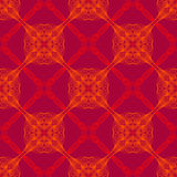Neon red pattern with renaissance motifs Stock Image
