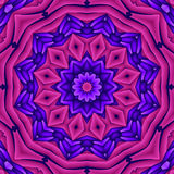 Neon retro mandala Royalty Free Stock Photos