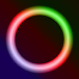 Neon ring. On a dark background stock illustration