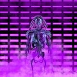 The neon robot princess stock photos