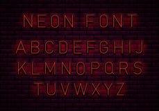 Neon rode doopvont vector illustratie