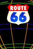 Neon route 66 sign Royalty Free Stock Images