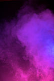 Neon Roze en Blauwe Mist Stock Fotografie
