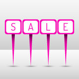 Neon sale pins Stock Photo