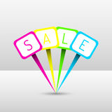 Neon sale pins Royalty Free Stock Photography