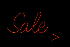 Neon sale sign Stock Image