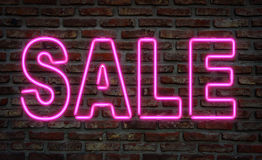 Neon sale sign. Royalty Free Stock Photos