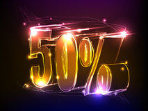Neon sale sign Royalty Free Stock Photo