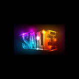Neon sale sign royalty free illustration