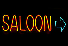 Neon saloon Stock Photo