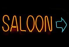 Neon saloon Stock Photo