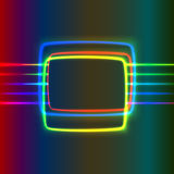 Neon screen Stock Images