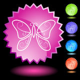 Neon Seal Set - Butterfly stock illustration
