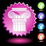 Neon Seal Set - Doric Column Stock Image