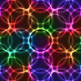 Neon seamless background with circles vector illustration