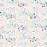 Neon Seamless pattern Back to school Royalty Free Stock Photos