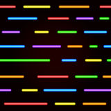Neon seamless pattern. Vector bright neon lines. On a black background Royalty Free Stock Images