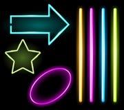Neon set Royalty Free Stock Image