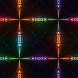 Neon shine dotted cross seamless background Royalty Free Stock Photography