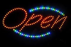 Neon shining signboard Stock Photography