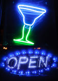 Neon shining signboard Stock Photos