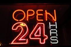Neon shining signboard Royalty Free Stock Image