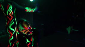 Neon show in darkness