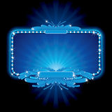 Neon sign. Blue luxury neon sign - no meshes used. To see similar - please visit at my gallery Royalty Free Stock Photo