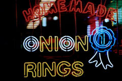 Neon Sign 2. Neon sign in the window of a restaurant stock image