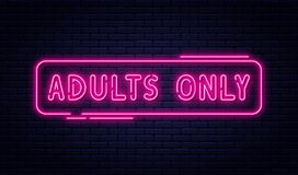 Free Neon Sign, Adults Only, 18 Plus, Sex And Xxx. Restricted Content, Erotic Video Concept Banner, Billboard Or Signboard Royalty Free Stock Image - 134438346