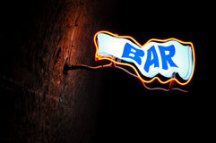 Neon sign Bar Royalty Free Stock Images