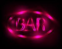 Neon sign Bar Royalty Free Stock Photo
