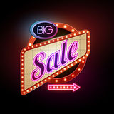 Neon sign big sale Stock Photo