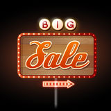 Neon sign big sale Stock Image