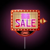 Neon sign big sale Royalty Free Stock Images