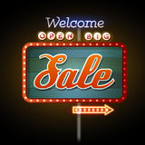 Neon sign big sale Stock Photo