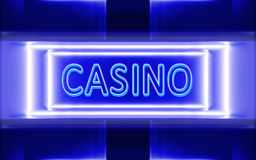 Neon sign of casino. Highly technological design of the neon sign of casino stock illustration