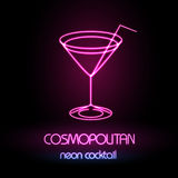 Neon sign. Cocktail Stock Image