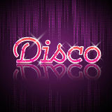 Neon sign. Disco party Stock Photo