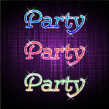 Neon sign. Disco party Stock Image