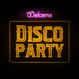 Neon sign. Disco party Stock Images