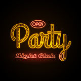 Neon sign. Disco party Royalty Free Stock Photos