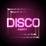 Neon sign. Disco party Royalty Free Stock Photography