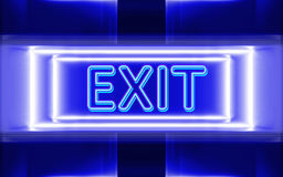 Neon sign of exit Royalty Free Stock Photography