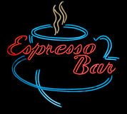 Neon Sign for an Expresso Bar Royalty Free Stock Image