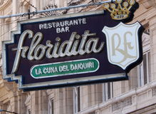 Neon Sign Of Floridita Restaurant And Bar Stock Image
