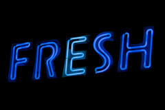 Neon sign - Fresh Royalty Free Stock Photography