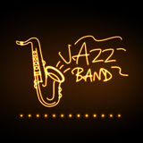 Neon sign Jazz band Royalty Free Stock Image